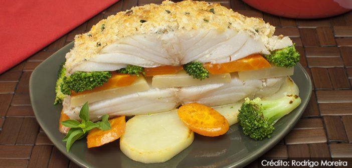 Bacalhau com crosta de pão